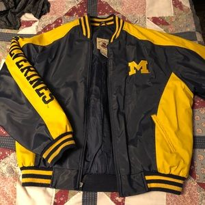 Wolverines leather jacket
